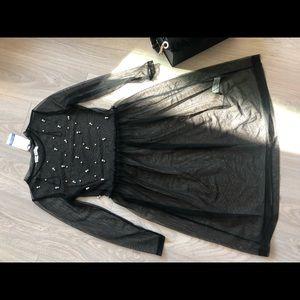Black mesh Zara dress